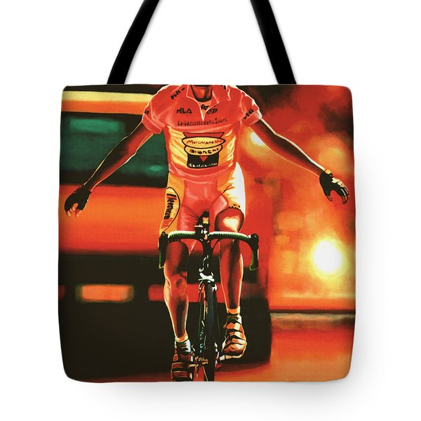 Marco Pantani Tote Bag by Paul  Meijering