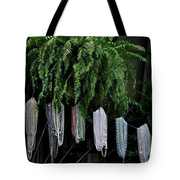 Mardi Gras Beads New Orleans Tote Bag by Christine Till