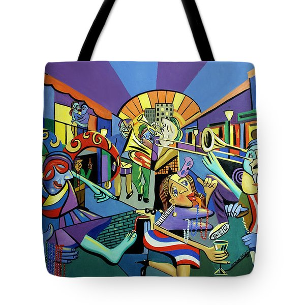 Mardi Gras lets get the party started Tote Bag by Anthony Falbo