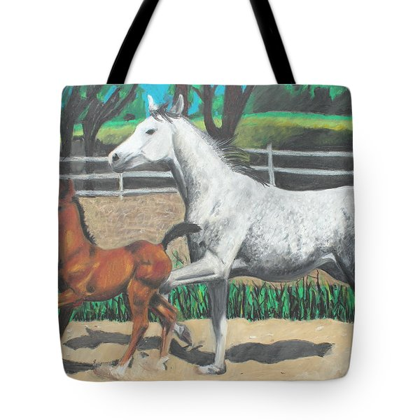 Mare And Colt Tote Bag by Jeanne Fischer