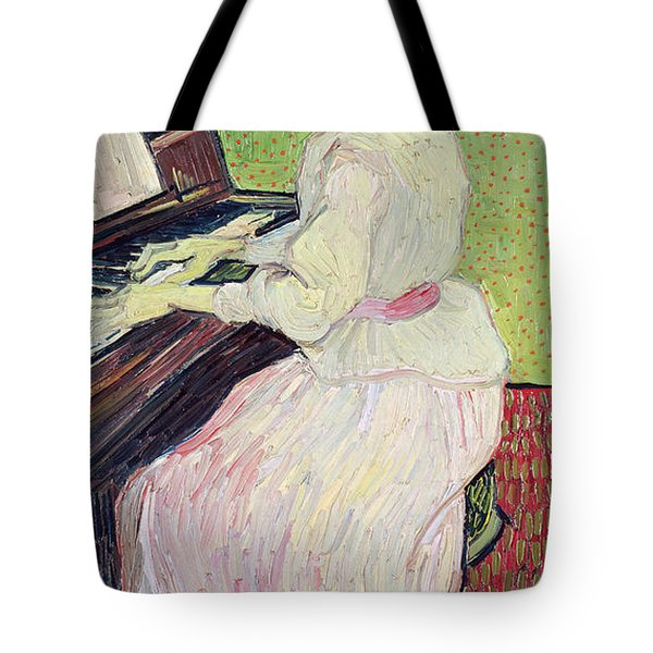 Marguerite Gachet At The Piano Tote Bag by Vincent Van Gogh