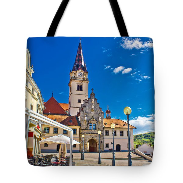 Marija Bistrica marianic sanctuary in Croatia Tote Bag by Dalibor Brlek