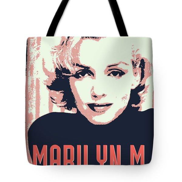 Marilyn M Tote Bag by Chungkong Art