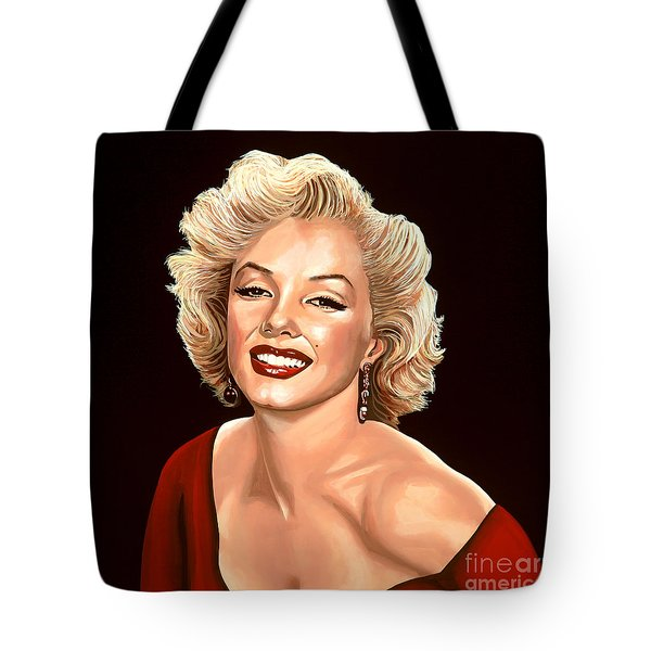 Marilyn Monroe 3 Tote Bag by Paul Meijering