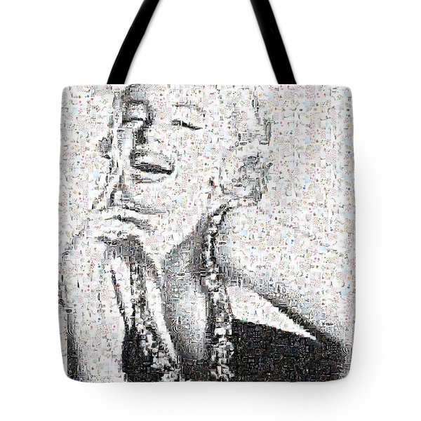 Marilyn Monroe In Mosaic Tote Bag by Angela A Stanton