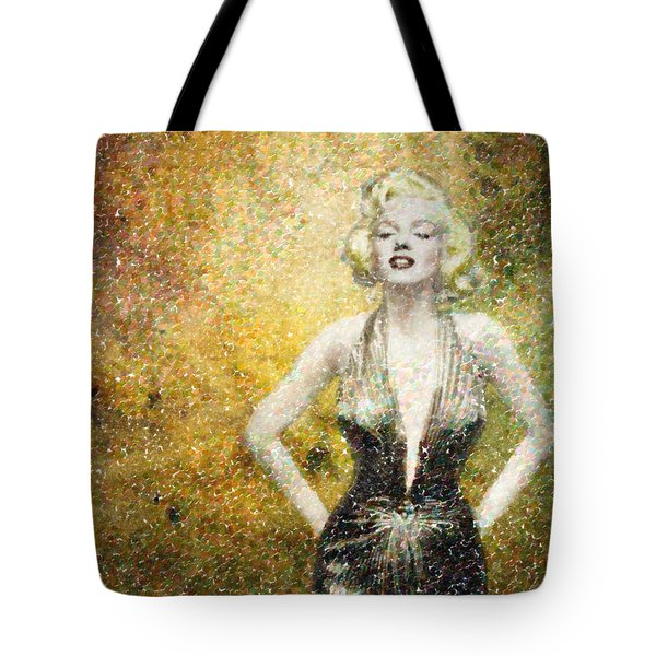 Marilyn Monroe In Points Tote Bag by Angela A Stanton