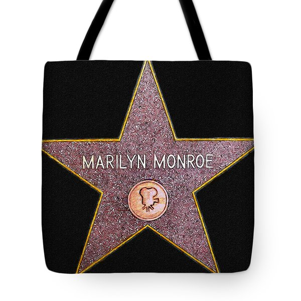Marilyn Monroe's Star Painting  Tote Bag by Bob and Nadine Johnston