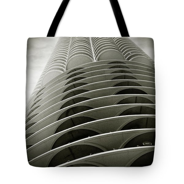 Marina City Chicago Il Tote Bag by Christine Till