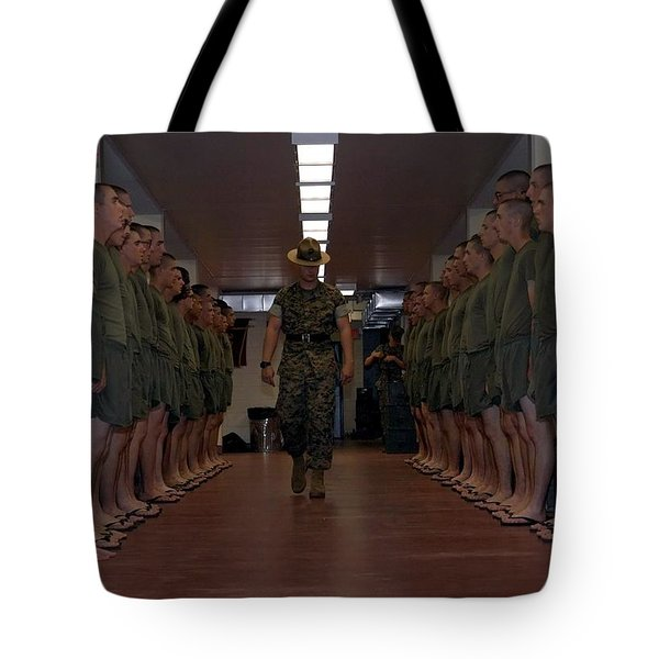 Marine Basic Training Tote Bag by Mountain Dreams
