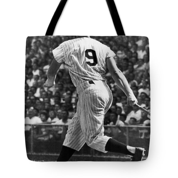Maris Hits 52nd Home Run Tote Bag by Underwood Archives