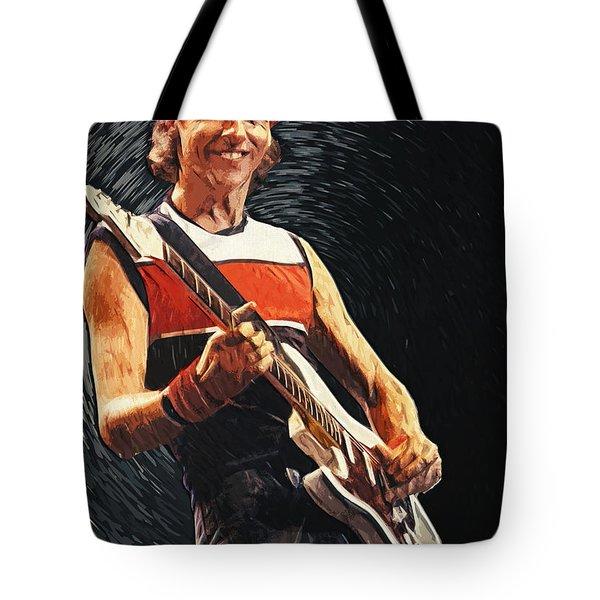 Mark Knopfler Tote Bag by Taylan Soyturk