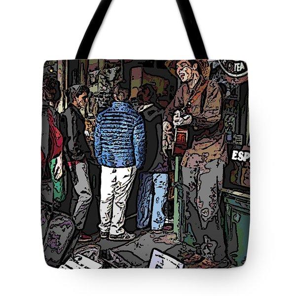 Market Busker 7 Tote Bag by Tim Allen