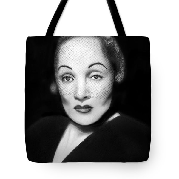 Marlene Dietrich Tote Bag by Peter Piatt