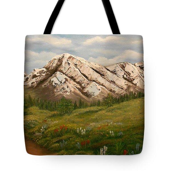 Maroon Trail Splendor Tote Bag by Sheri Keith