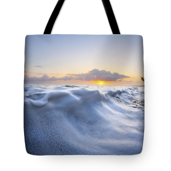 Marshmallow Tide Tote Bag by Sean Davey
