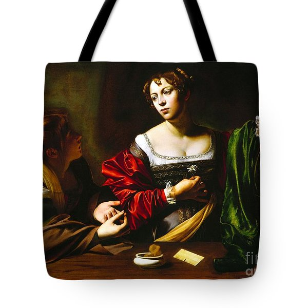 Martha And Mary Magdalene Tote Bag by Pg Reproductions