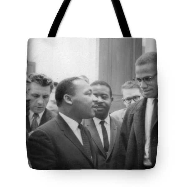 Martin Luther King Jnr 1929-1968 And Malcolm X Malcolm Little - 1925-1965 Tote Bag by Marion S Trikoskor