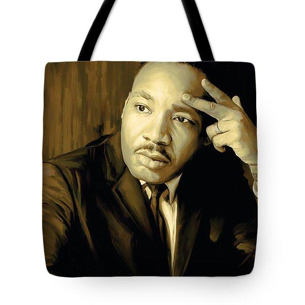 Martin Luther King Jr Artwork Tote Bag by Sheraz A