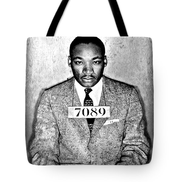 Martin Luther King Mugshot Tote Bag by Some Cracker