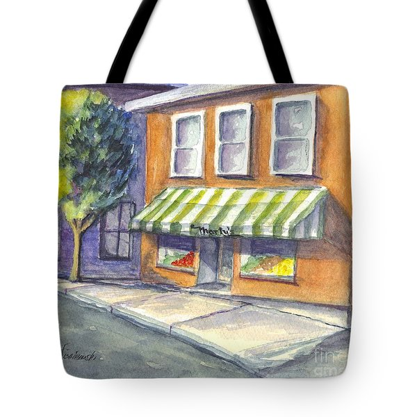 Marty's Market Tote Bag by Carol Wisniewski