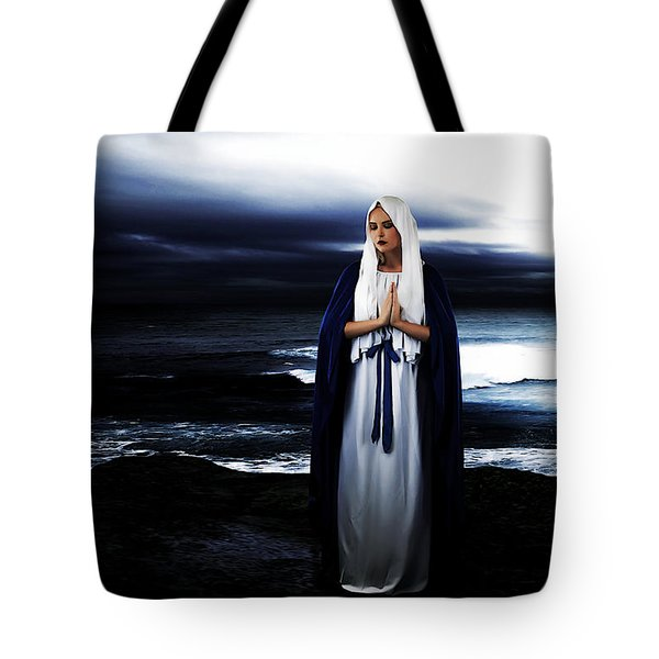 Mary by the Sea Tote Bag by Cinema Photography