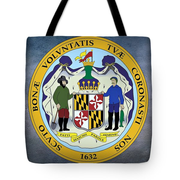 Maryland State Seal Tote Bag by Movie Poster Prints
