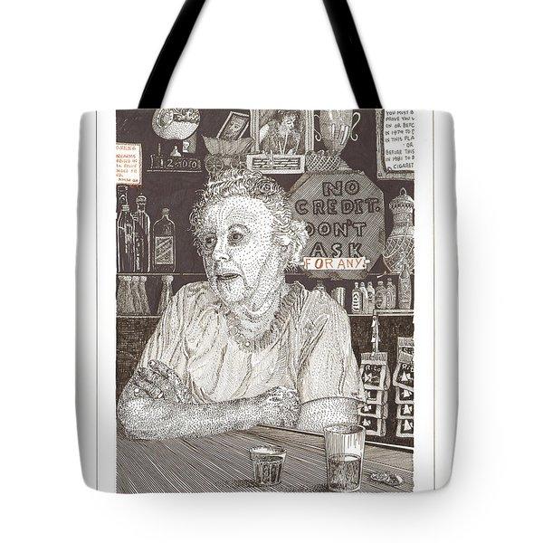 Marys Bar Cerrillos New Mexico Tote Bag by Jack Pumphrey