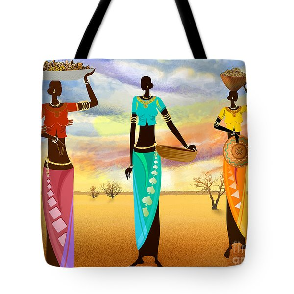Masai Women Quest For Grains Tote Bag by Bedros Awak