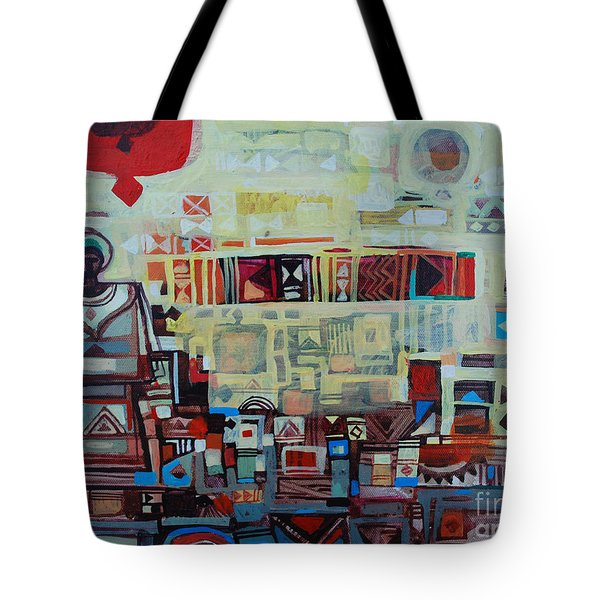 Maseed Maseed 2 Tote Bag by Mohamed Fadul