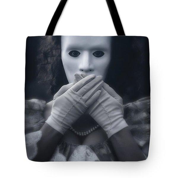 masked woman Tote Bag by Joana Kruse