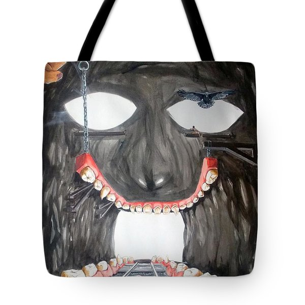 Masquera Carcaza  Tote Bag by Lazaro Hurtado