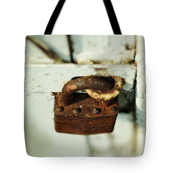 Master Lock Tote Bag by Rebecca Sherman