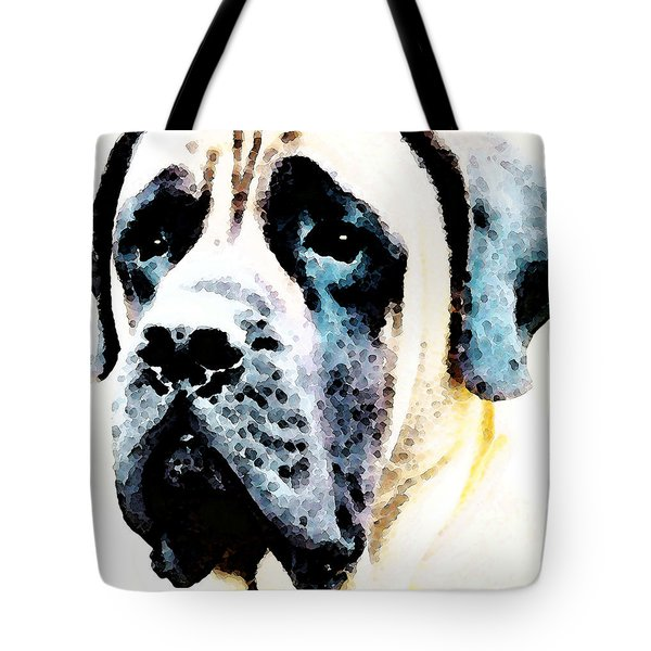 Mastif Dog Art - Misunderstood Tote Bag by Sharon Cummings