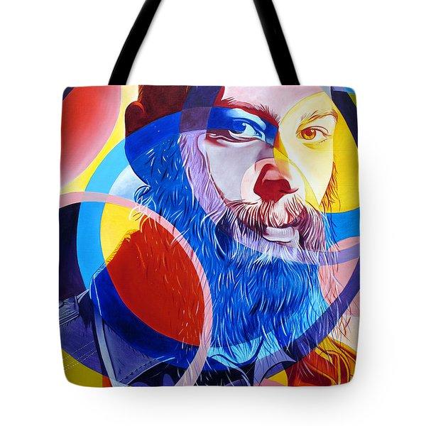 Matisyahu In Circles Tote Bag by Joshua Morton