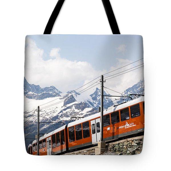 Matterhorn Railway Zermatt Switzerland Tote Bag by Matteo Colombo