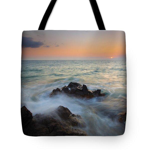 Maui Tidal Swirl Tote Bag by Mike  Dawson