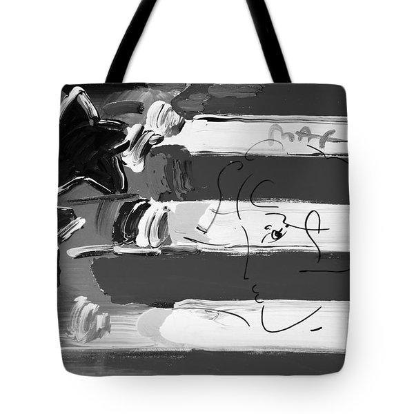 Max Stars And Stripes In Black And White Tote Bag by Rob Hans