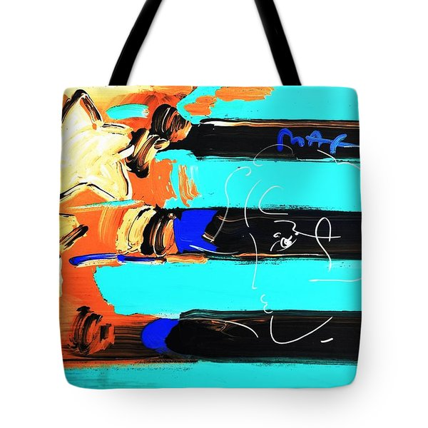 Max Stars And Stripes In Inverted Colors Tote Bag by Rob Hans