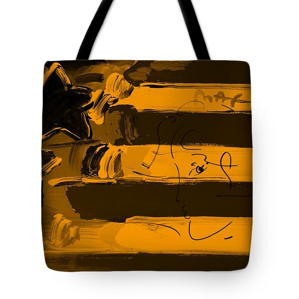 Max Stars And Stripes In Orange Tote Bag by Rob Hans