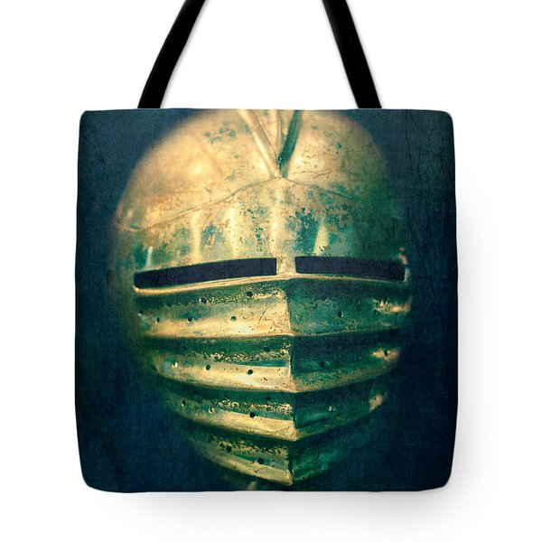 Maximilian Knights Armour Helmet Tote Bag by Edward Fielding