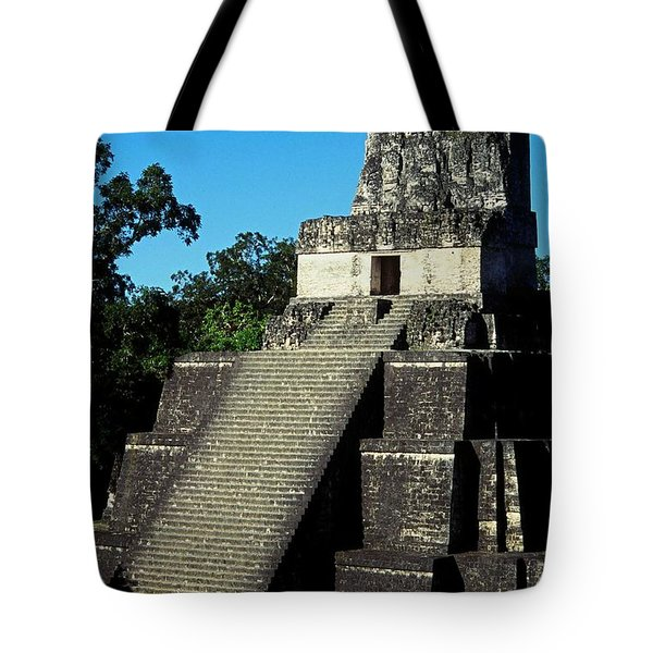 Mayan Ruins - Tikal Guatemala Tote Bag by Juergen Weiss