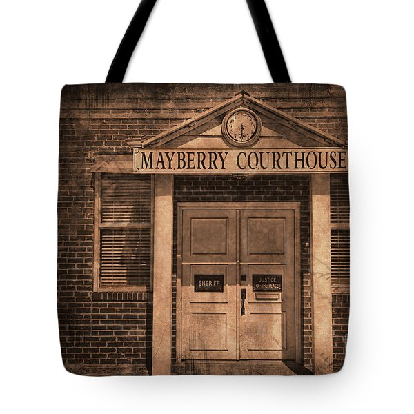 Mayberry Courthouse Tote Bag by David Arment