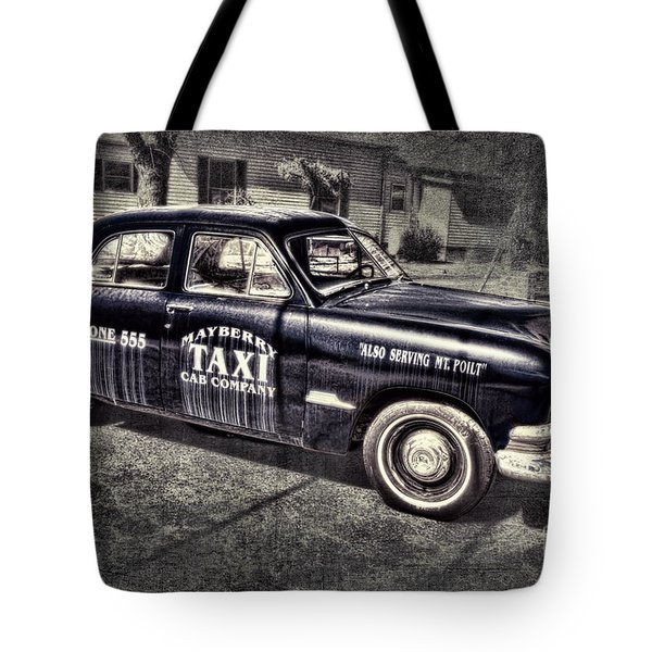 Mayberry Taxi Tote Bag by David Arment