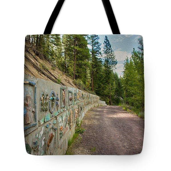 Mazama Suspension Bridge Trail Tote Bag by Omaste Witkowski