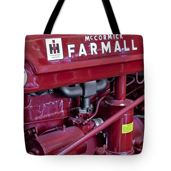 Mc Cormick Farmall Super C Tote Bag by Susan Candelario