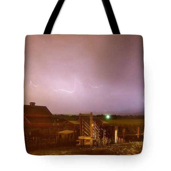 McIntosh Farm Lightning Thunderstorm View Tote Bag by James BO  Insogna