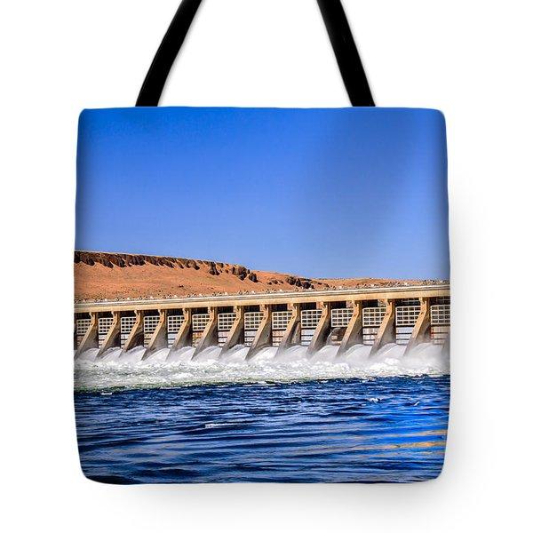 Mcnary Dam Tote Bag by Robert Bales