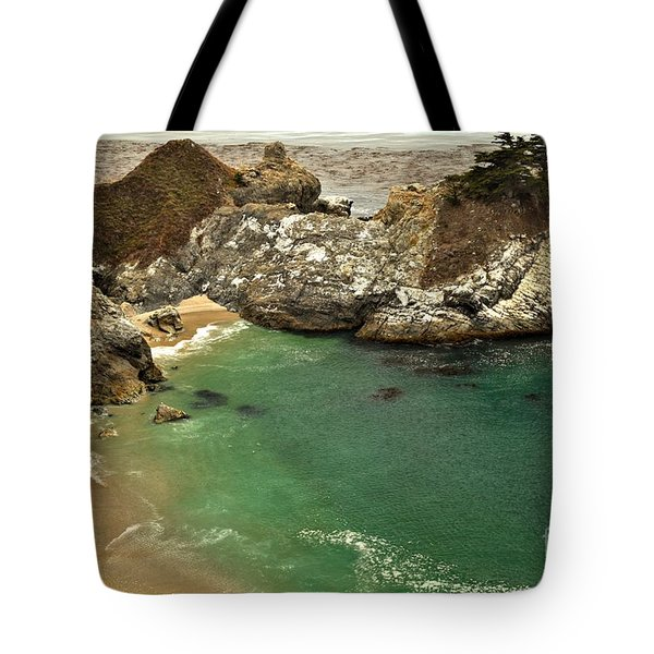 McWay Falling Into The Pacific Tote Bag by Adam Jewell
