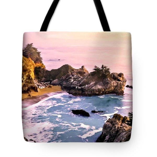 Mcway Falls Pacific Coast Tote Bag by Bob and Nadine Johnston