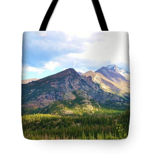 Meadow And Mountains Tote Bag by Kathleen Struckle